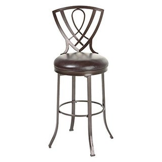 26 in. Lincoln Metal Counter Stool with Chocolate Upholstered