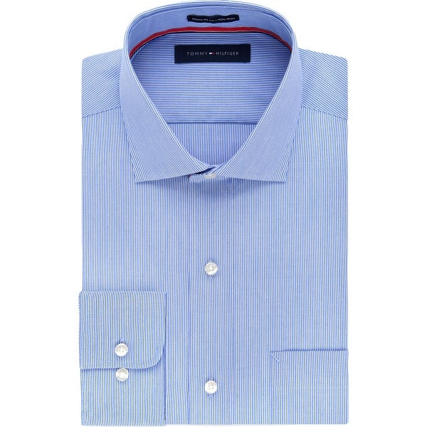 Tommy Hilfiger Mens Big & Tall Dress Shirt Pinstripe Non-Iron - Stream - 22 35/36. Opens flyout.