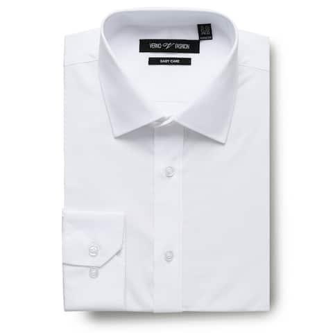 Men's Regular Fit Travel Easy-Care Cotton Dress Shirt