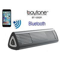 Boytone BT-120GR Portable Wireless Bluetooth Speaker, Built-in Microphone, Rechargeable battery, Works with all Smart Phones