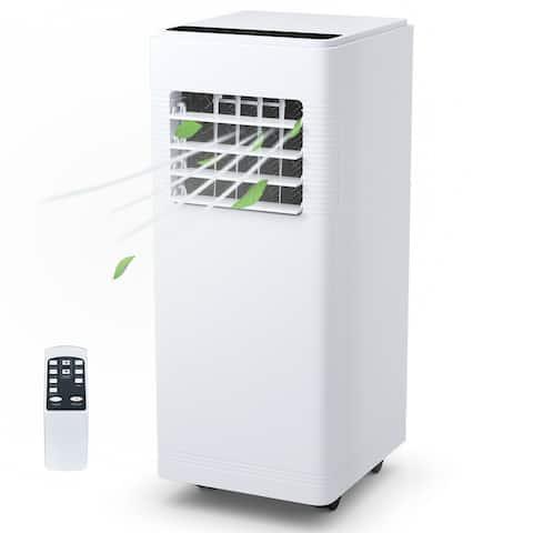 Costway 12000BTU Electric Portable Air Cooler Dehumidify Cool Fan w/ Remote Control - White