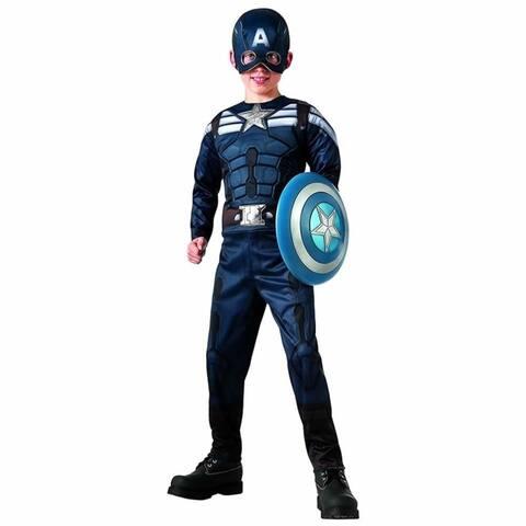 Captain America The Winter Soldier Reversible size L 12/14 Stealth/Retro Costume Rubie's