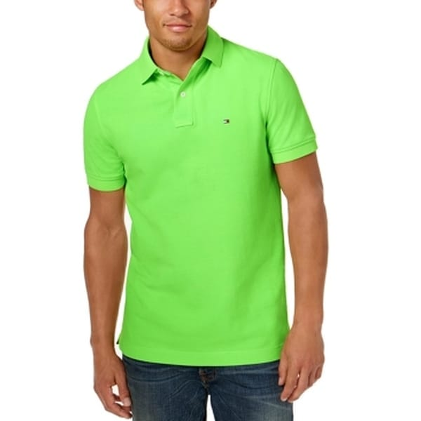 dbca392d Shop Tommy Hilfiger NEW Neon Green Mens Size XL Custom Fit Polo Rugby Shirt  - Free Shipping On Orders Over $45 - Overstock - 21473218