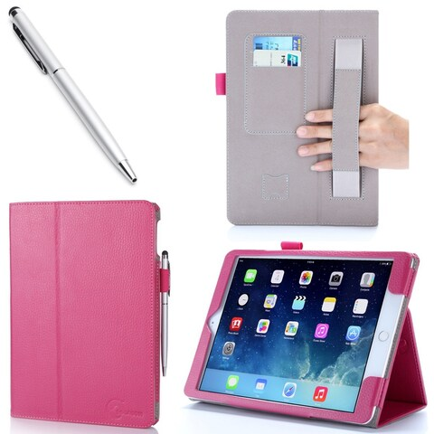 iPad Air 2 Case, i-Blason, Slim Leather Book Stand Cover Case for Apple Ipad Air 2- Magenta