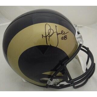 Marshall Faulk Autographed St Louis Rams Full Size Replica Helmet JSA