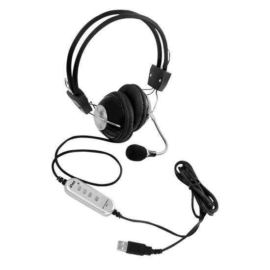 Multimedia/Gaming USB Headset With Noise-Canceling Microphone