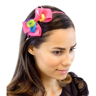 Rainbows and Sunshine Ribbon Headband