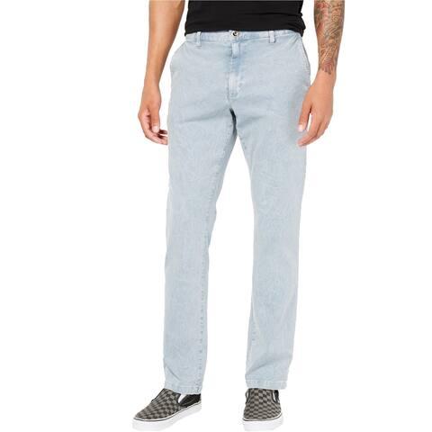 RVCA Mens Daggers Rinsed Casual Chino Pants, Blue, 34W x 32L - 34W x 32L