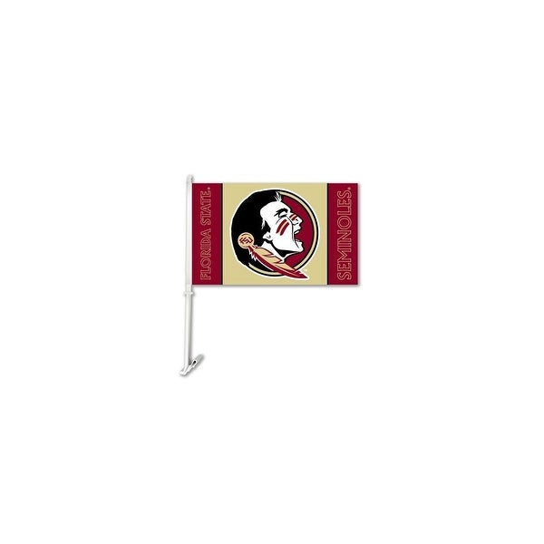 Bsi Products Inc Florida State Seminoles Car Flag With Wall Brackett Car Flag