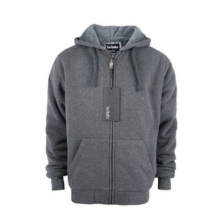 Men's Fashion Full Zip Heavyweight Sherpa-Lined Fleece Hoodie Jackets