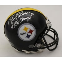 d1bfad2e094 Rocky Bleier Autographed Pittsburgh Steelers Mini Helmet 4x SB Champs JSA