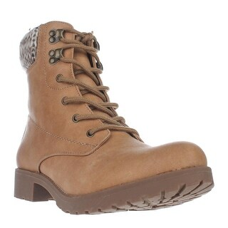 Seven Dials Soha Cuffed Combat Boots, Wheat