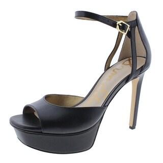 Sam Edelman Womens Kayde Leather Open Toe Platform Heels - 8.5 medium (b,m)