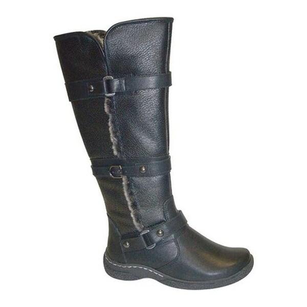 114c692e1315 Shop Wanderlust Women s Gabrielle Knee High Winter Wide Calf Boot Black  Water Resistant PU - Free Shipping Today - Overstock - 22879790