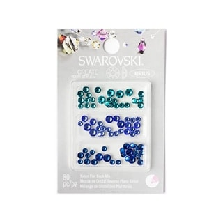 Cousin Swarovski Flatback Mix Sea Blues 80pc