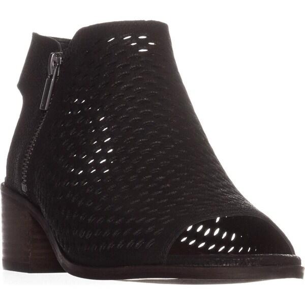 Lucky Brand Nelwyna Open Heel Ankle Boots, Black