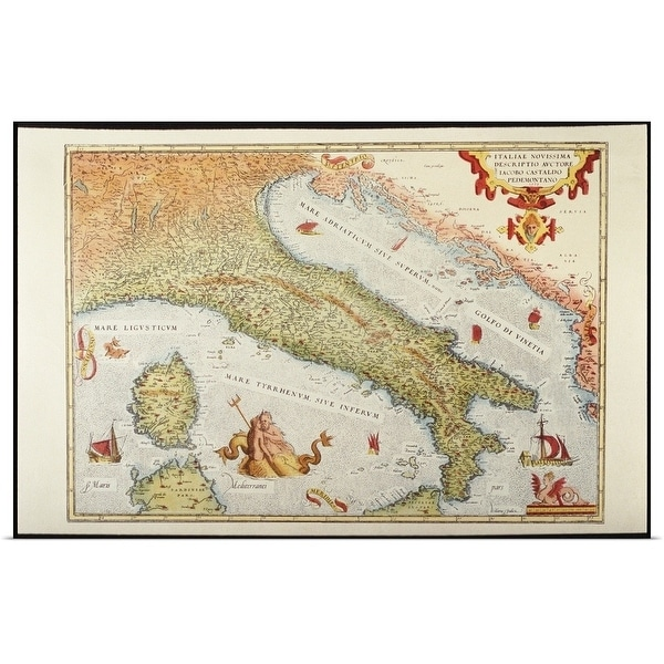 Italy Map 1500.Shop Poster Print Entitled Map Of Italy In 1500 Multi Color Free