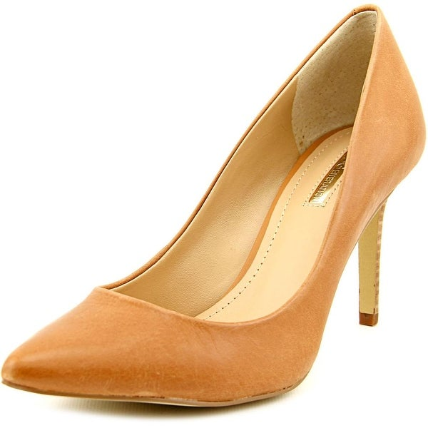 BCBGeneration Levonne Women Pointed Toe Leather Tan Heels