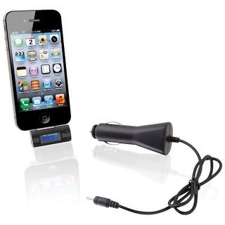 iLive GPXIAF52BB iLive Wireless FM Transmitter with Digital Display and 12V DC Car Adapter for iPod iPhone iPad