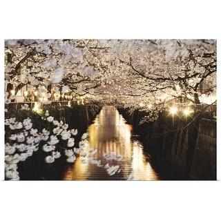 """Cherry blossom at night"" Poster Print"