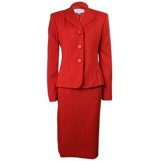 Le Suit Women's Napa Valley Pleated Skirt Suit