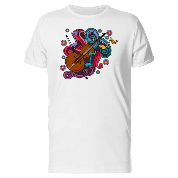48890a4e Shop Musical Doodles Violin Tee Men's -Image by Shutterstock - Free  Shipping On Orders Over $45 - Overstock.com - 22115439