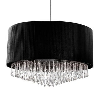 """Eurofase Lighting 20587 Penchant 12 Light 47-1/2"""" Wide Drum Chandelier with Crystal Accents"""