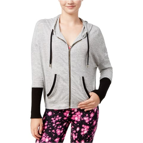 Material Girl Womens Active Embellished Hoodie Sweatshirt