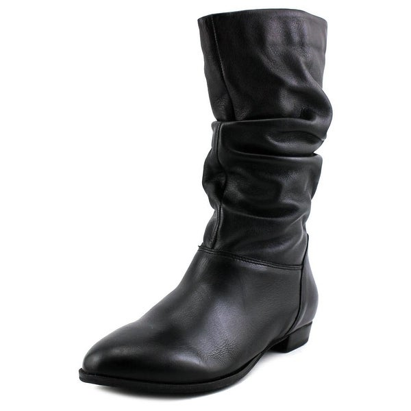 Dune London Relissa Women Pointed Toe Leather Black Mid Calf Boot