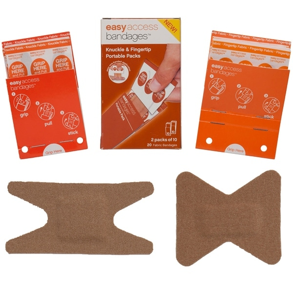 Adventure Medical Easy Access Bandages - Fabric - Knuckle & Fingertip - 20 Count