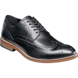 Nunn Bush Men's Middleton Wing Tip Oxford Black Leather