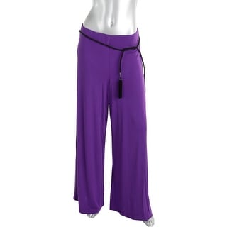 Lauren Ralph Lauren Womens Pull On High Rise Palazzo Pants - L