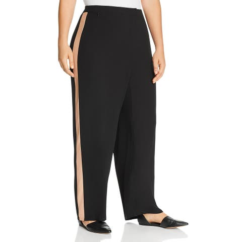 Eileen Fisher Womens Pants High Waisted Straight - Black