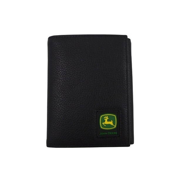 John Deere Western Wallet Mens Trifold Stitched Rubber Patch - One size