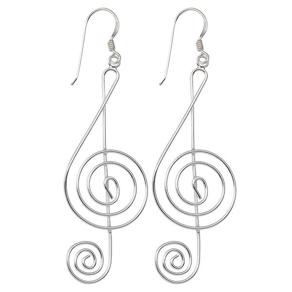 Women X27 S Graceful G Clef Earrings Sterling Silver Music Themed
