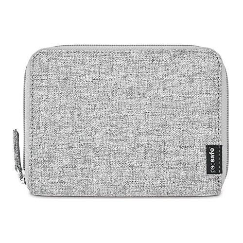 Pacsafe RFIDsafe LX150-Tweed Grey RFID Blocking Zippered Passport Wallet