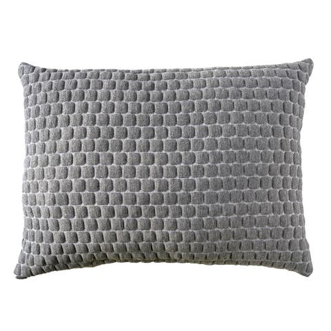 26 x 20 Memory Gel Pillow with Stretched Knit Cover, Gray