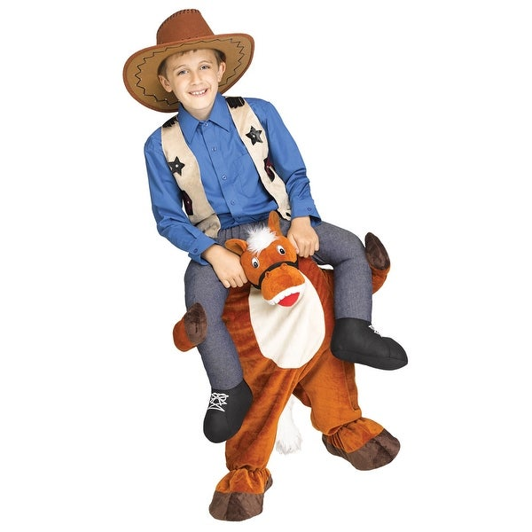 kids carry me horse halloween costume one size up to size 12