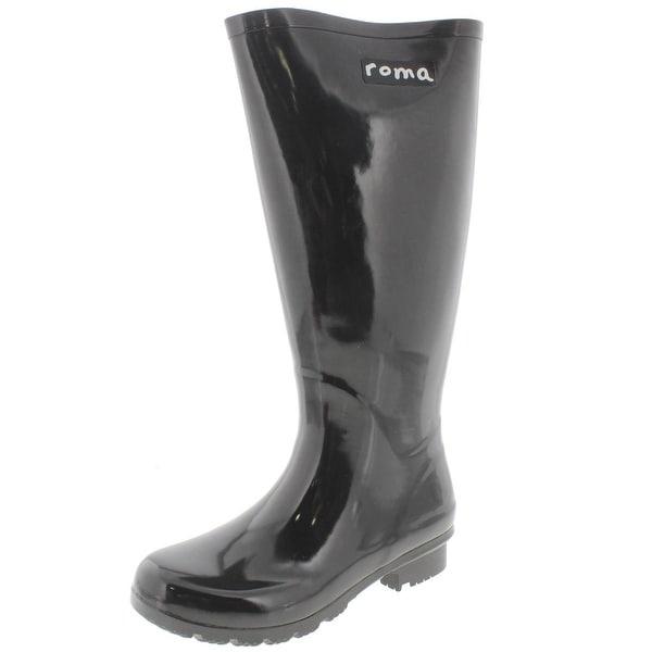 Shop Roma Costume Womens Emma Tall Rain Boots Knee High