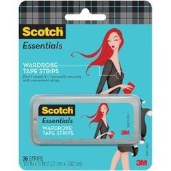 """.5""""X3"""" 36/Pkg - Scotch Essentials Wardrobe Tape Strips"""