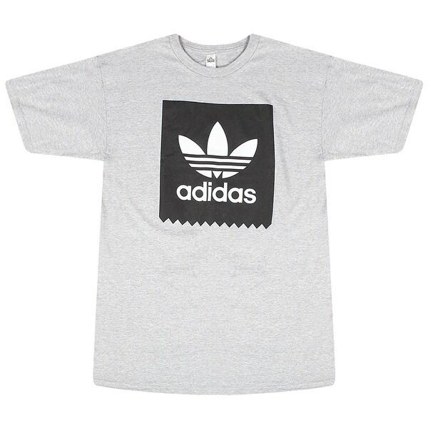 Adidas White Originals Trefoil Black Blackbird Logo Men's Grey T-Shirt