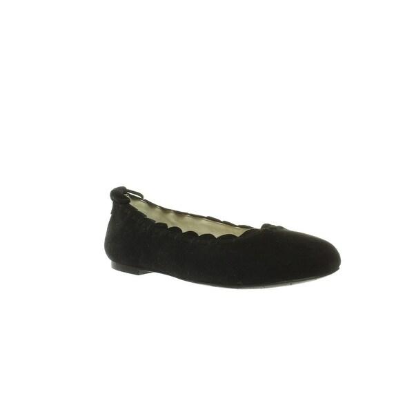 a4ec1bdac4c7d Shop Jack Rogers Womens Lucie Black Suede Ballet Flats Size 8 - Free ...
