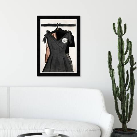 Wynwood Studio 'Her Fashion Closet' Fashion and Glam Wall Art Framed Print Runway - Black, Pink