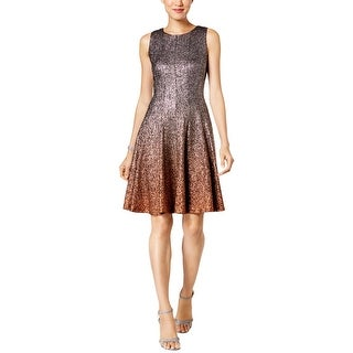 MSK Womens Cocktail Dress Fit & Flare Ombre