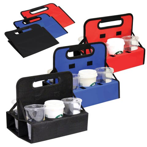 Reusable Cup Carrier/Caddy/Cup Holder For Drinks in Black/Blue/Red