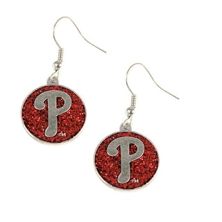 Philadelphia Phillies Glitter Sparkle Dangle Logo Earring Set Charm Gift MLB