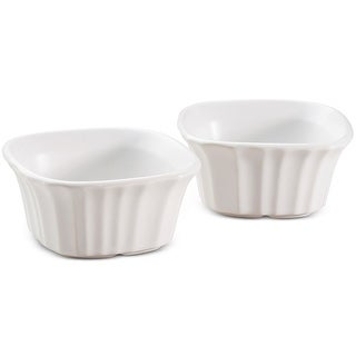 CorningWare 1111281 Square Ramekins, French White, Set of 2