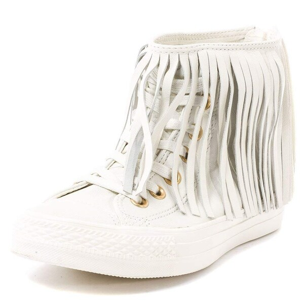 be2945e4b28e Converse Women  x27 s All Star Fringe High-Top Leather Fashion Sneaker -