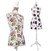 Costway Female Mannequin Torso Dress Form Display W/ White Tripod Stand New - as pic