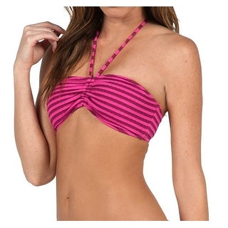 Volcom NEW Pink Women's Size Medium M Bandeau Bikini Top Swimwear
